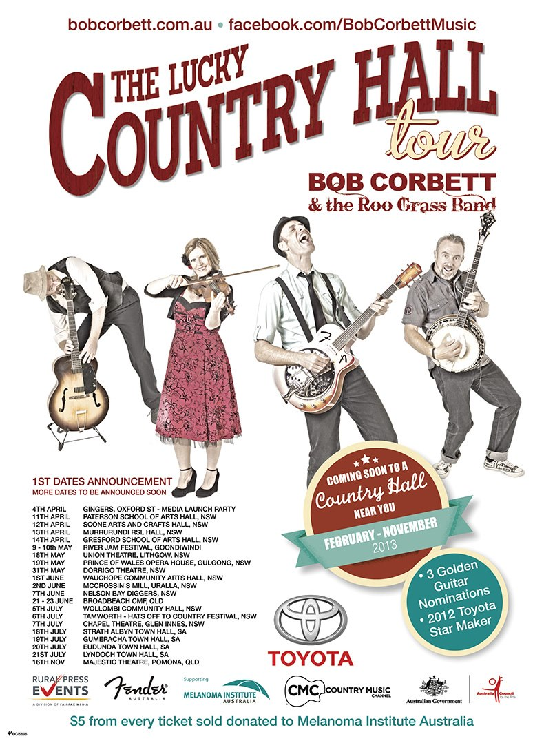 Peter Bower - Bob Corbett - Lucky Country Hall Tour